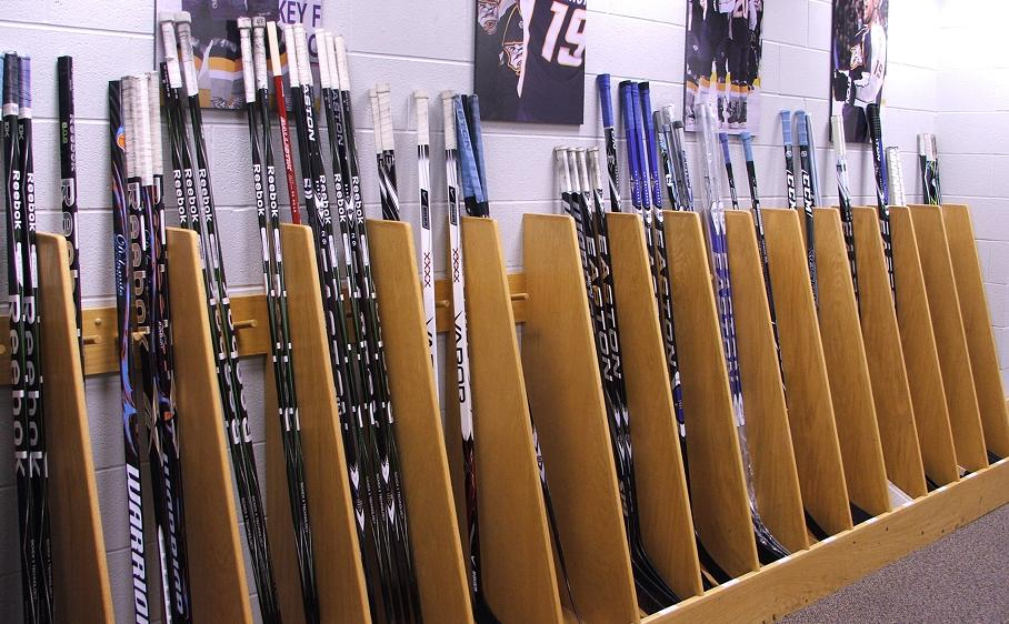 Training Camp - wall of sticks