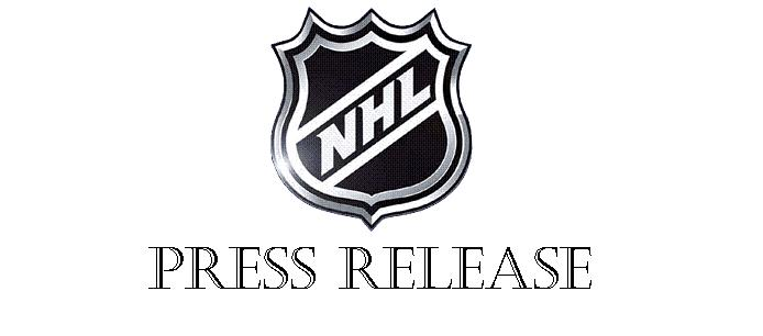NHL press release BANNER