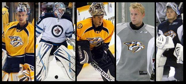 Preds goaltenders 2012-13
