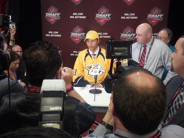 Seth Jones at draft (Jeremy K Gover)