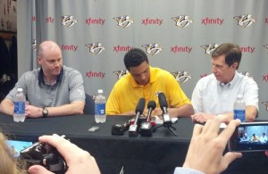 Seth Jones signing (Jeremy K Gover)