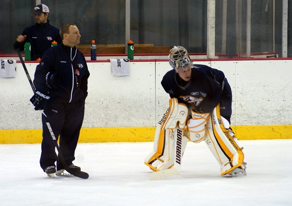 Pekka Rinne and Mitch Korn (Sarah Fuqua)